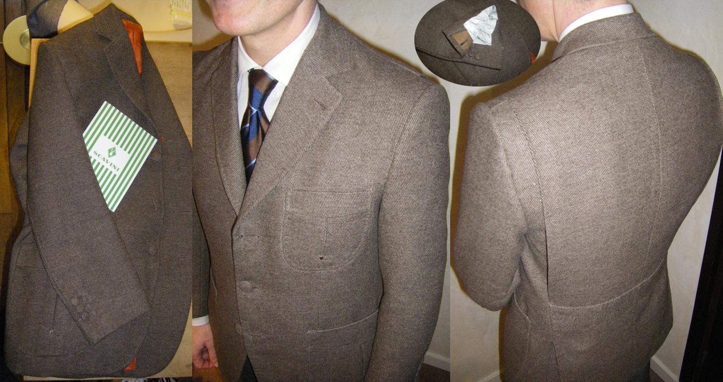 Cette veste de chasse présente des basques arrondis, une martingale, des soufflets dans le dos et des poches plaquées. Ces quelques détails inspirés de la norfolk permettent de varier de la veste en tweed classique et surtout d'améliorer son confort.