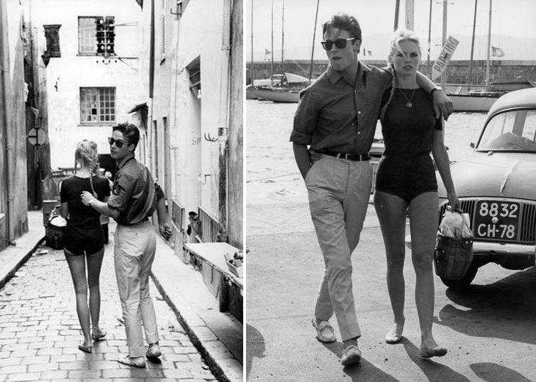 Brigitte Bardot and Jacques Charrier, Saint-Tropez, 1959