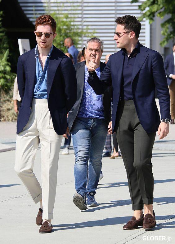 Ici on voit que la ceinture du pantalon accompagne logiquement le cintrage de la veste.  Source : Anglo-Italian