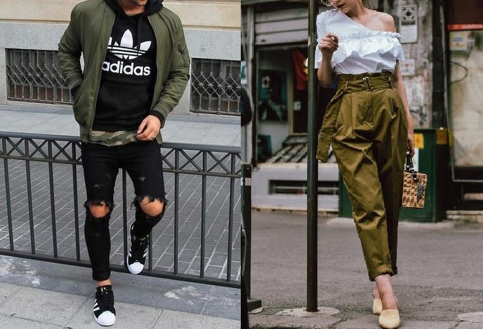Le retour du pantalon classique chez la femme a sûrement permis de travailler une dichotomie sexuelle des silhouettes : jeans skinny taille basse pour les hommes et pantalon ample taille (très) haute pour les femmes.