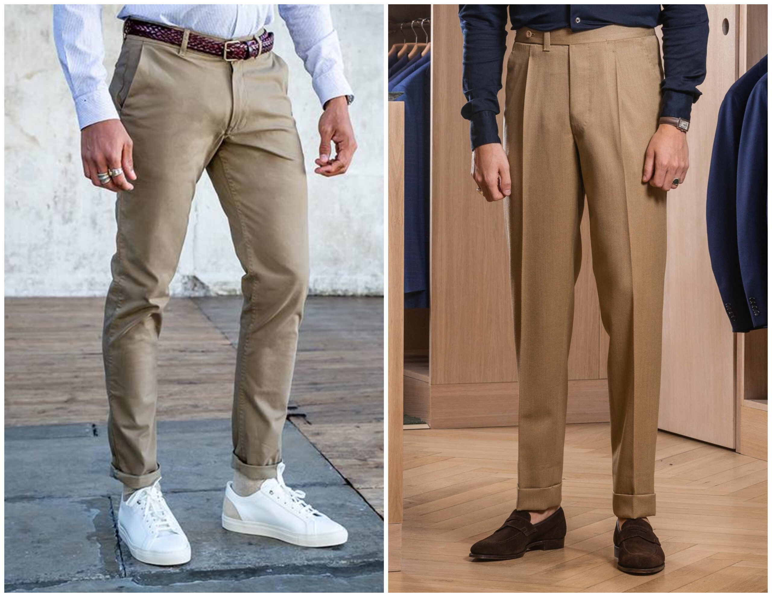 pantalon chino longueur ajusté