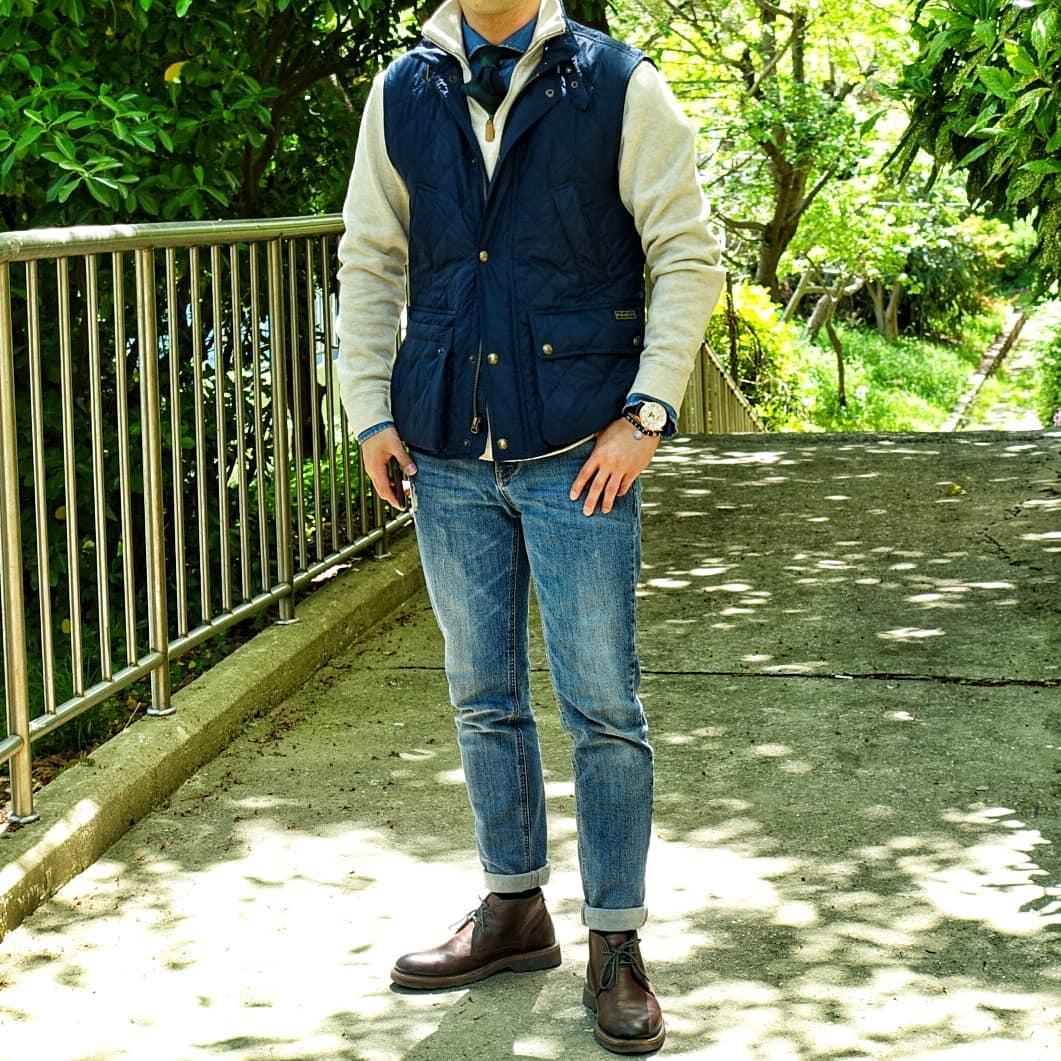 Je ne peux qu'encourager ceux qui sont le plus à l'aise avec le style à porter des cravates. Vous pouvez commencer en la portant sous une maille dans des ensembles très casual comme par exemple ici : veste matelassée/chemise en denim/jeans/boots. Plus elle est intégrée à un layering important et plus elle est également facile à porter.