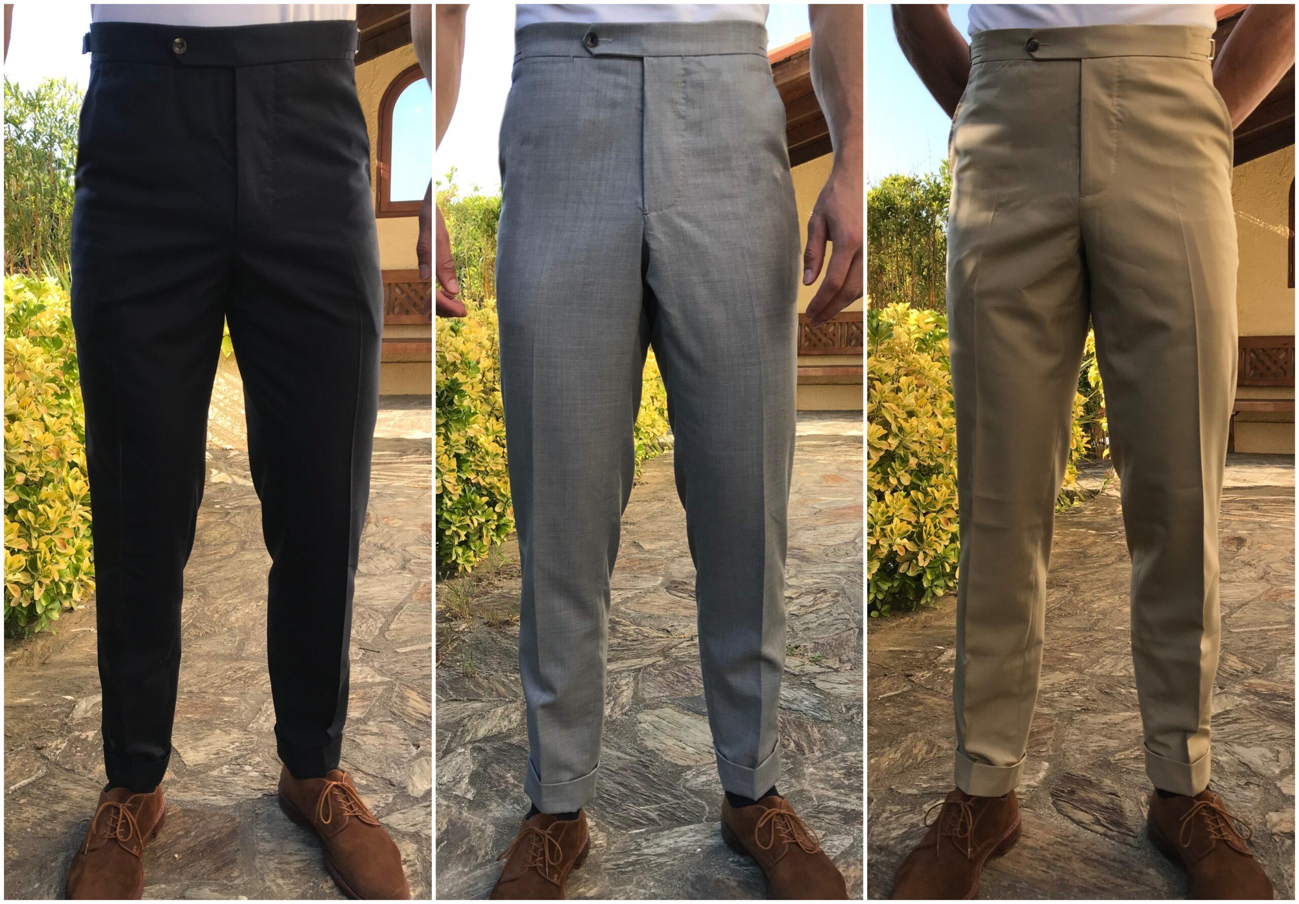 Pantalons Luxire (tissu : washable wool), souliers Alden, T-shirt blanc Domyos.