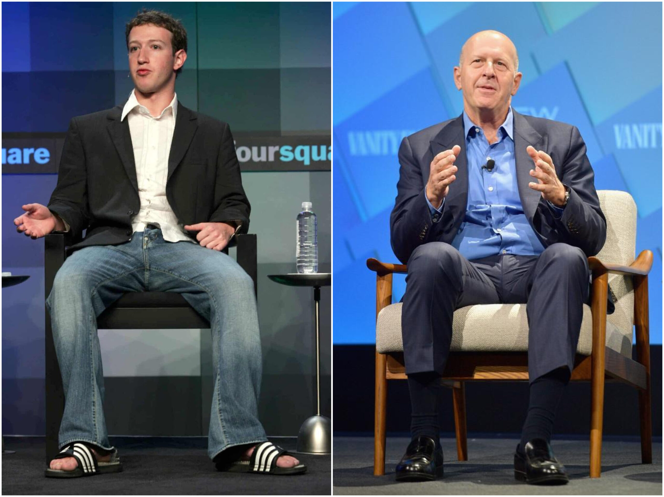 Deux visions du monde s'affrontent : Mark Zuckerberg vs David Solomon.