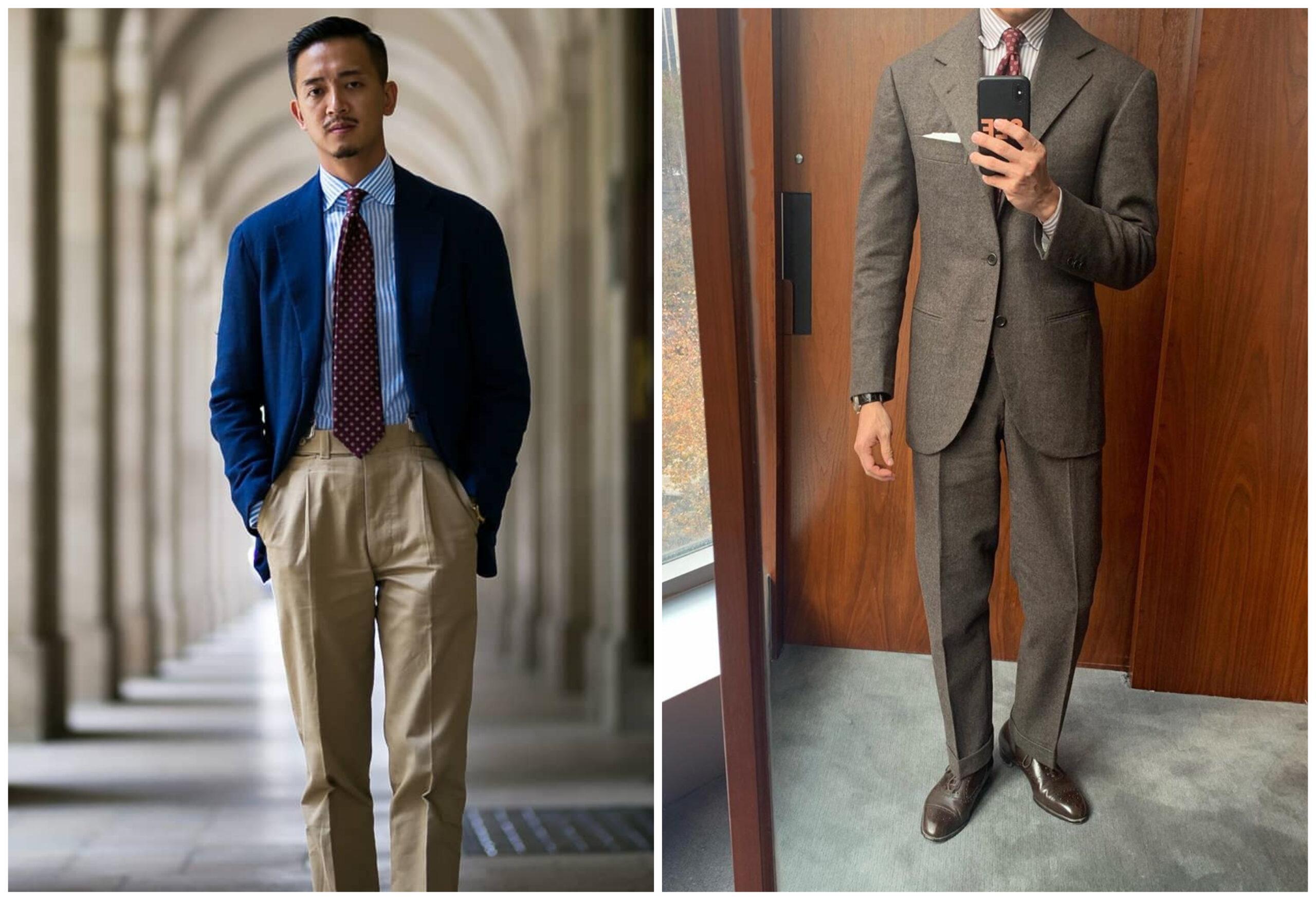 Il s'agit bien de la même personne (Alan See), la veste de costume présente des épaules structurées comparée à la veste sport. Sans même avoir recours à une compensation de carrure, le torse paraît plus athlétique.