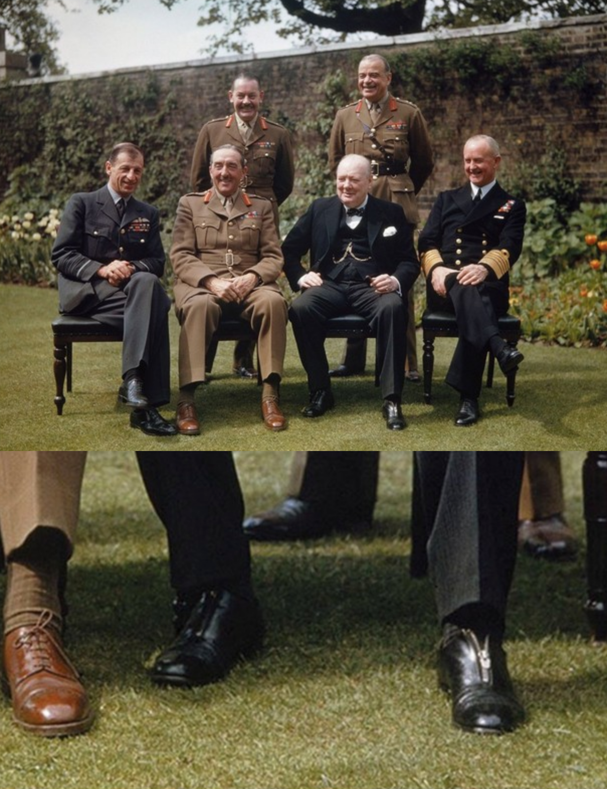 Le zip des souliers de Churchill est partiellement ouvert, probablement car ses pieds devaient gonfler facilement. (Source : Claymoorslist)