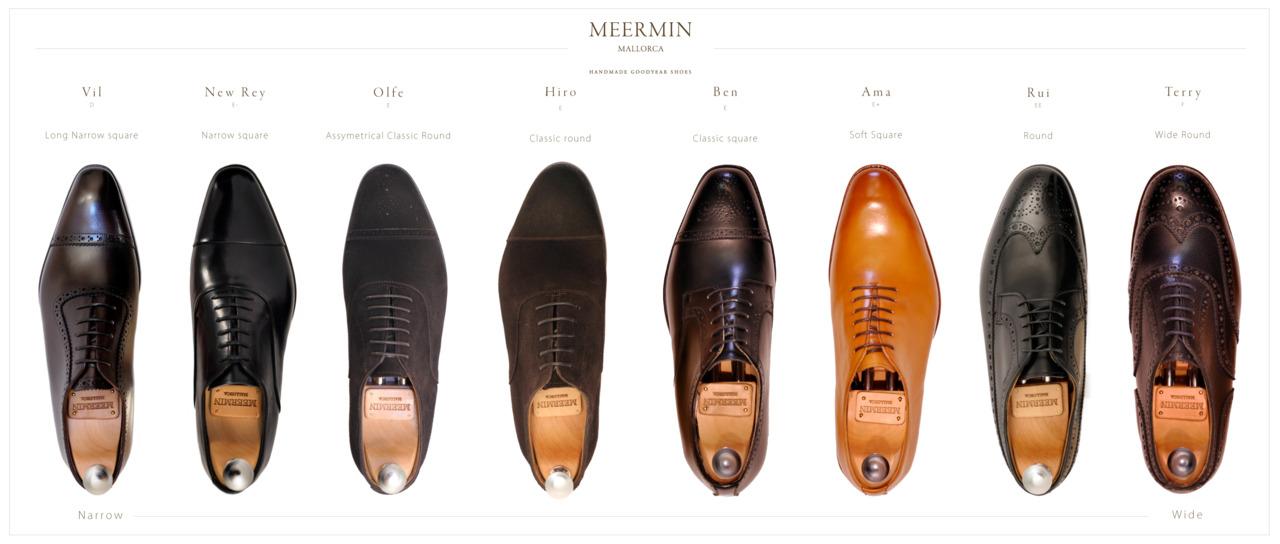 Une présentation des formes chez Meermin. (Source : Meermin)