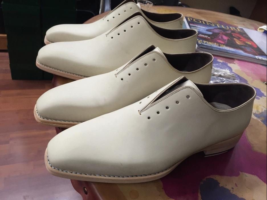 Des paires à patiner de chez Paul Parkman en crust calf. Nul doute que la patine sera de très bon goût…. (Source : Mensluxuryfootwear)
