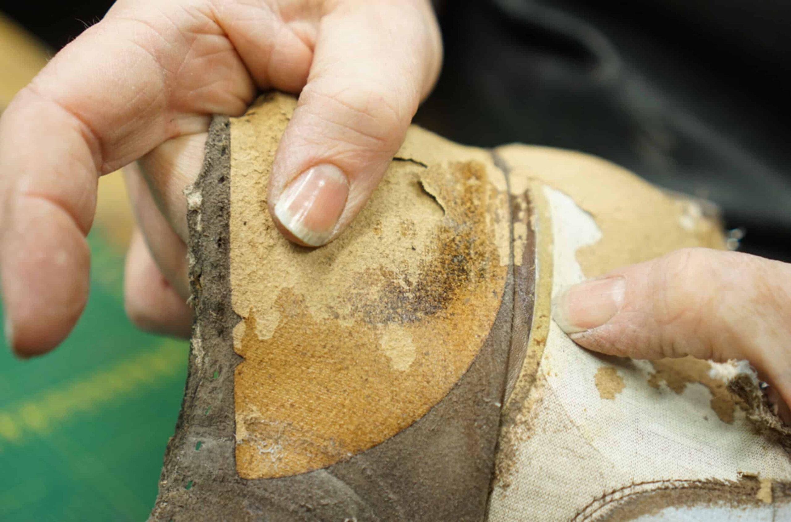 Un contrefort en salpa sur une paire de Carmina. (Source : Shoegazing)