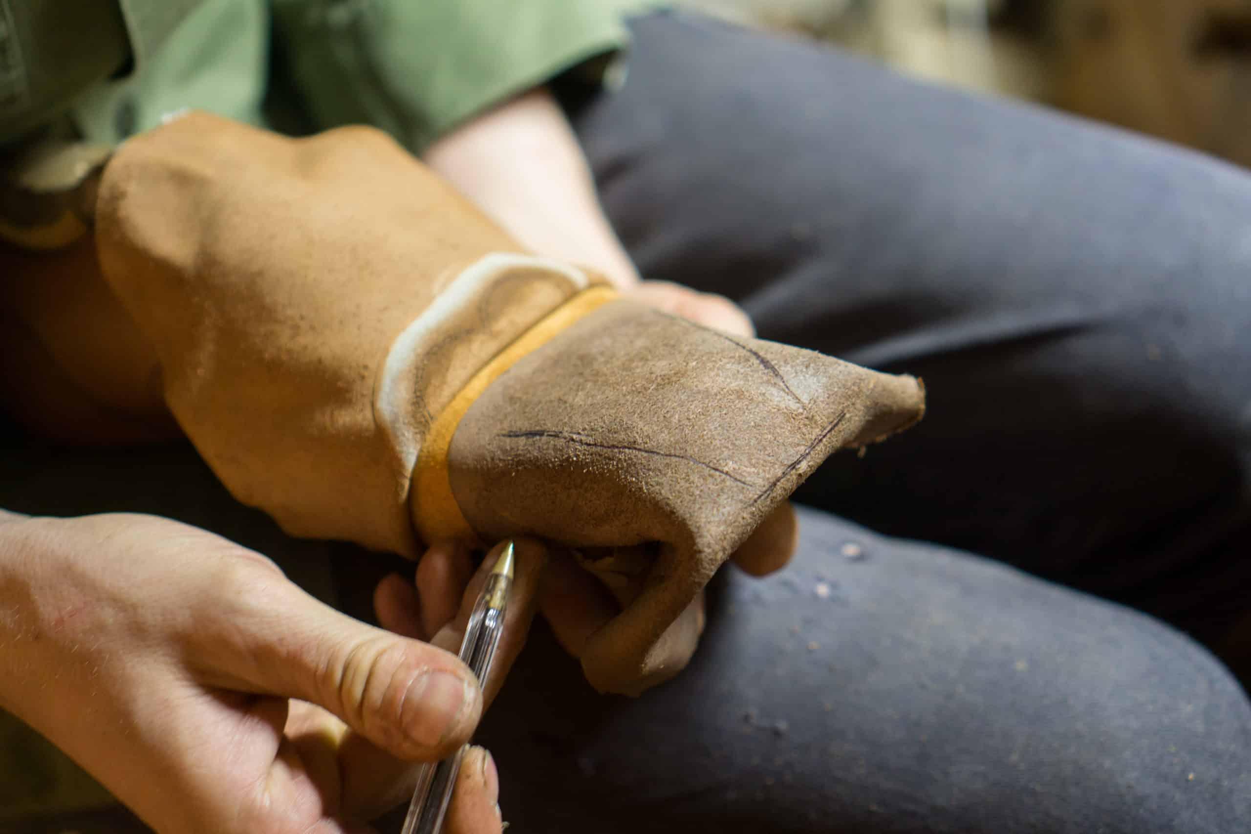 Un bout dur en cuir fabriqué de façon artisanale. (Source : Shoegazing)
