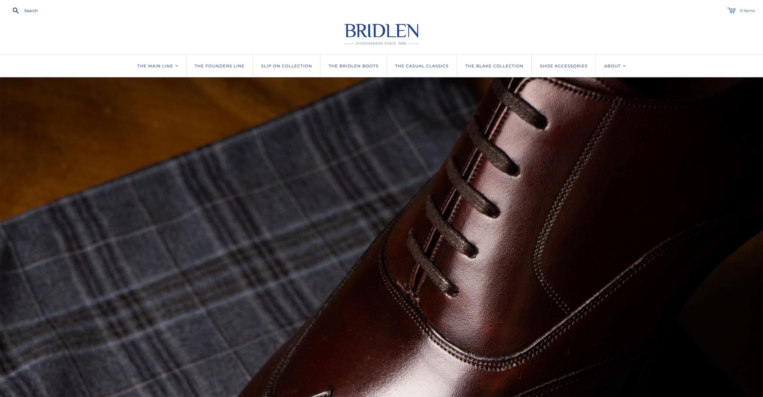 Le site internet de la marque. (Source: Bridlen)