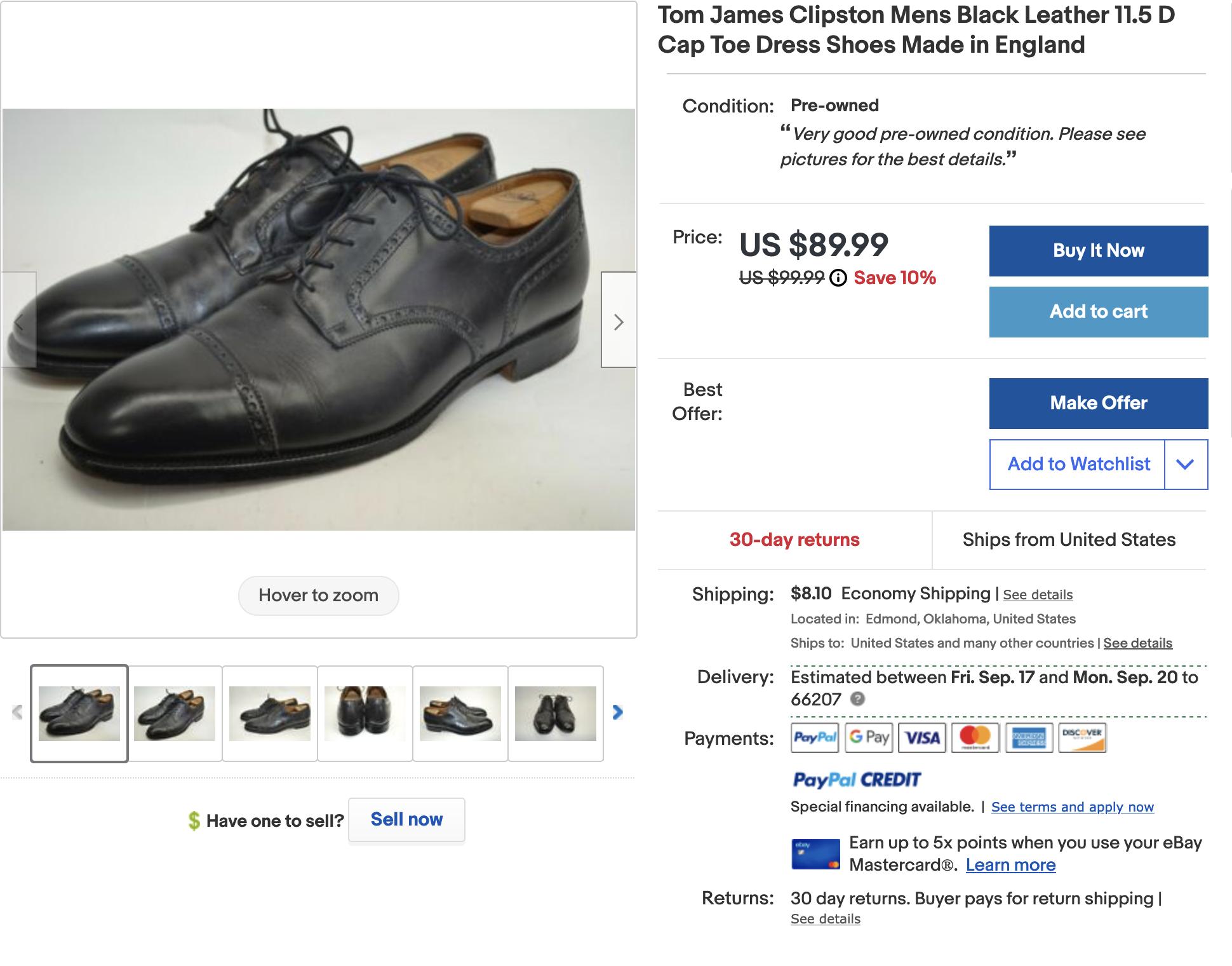 """Les 3 modèles proviennent tous de Crockett & Jones <a href=""""https://ebay.us/8MG1cI""""> Lien vers l'annonce Ebay</a>  (Source: Ebay)"""