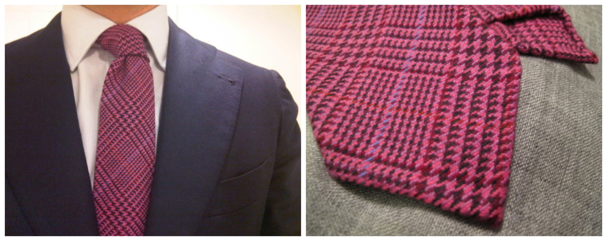 Cette cravate de Passaggio a été l'une des premières réalisations de la marque et a été fabriquée avec un tissu volé chez Cappelli. (Source: Dessedwell)