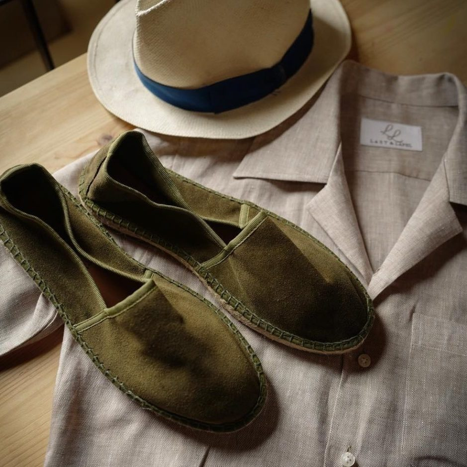 espadrilles last and lapel